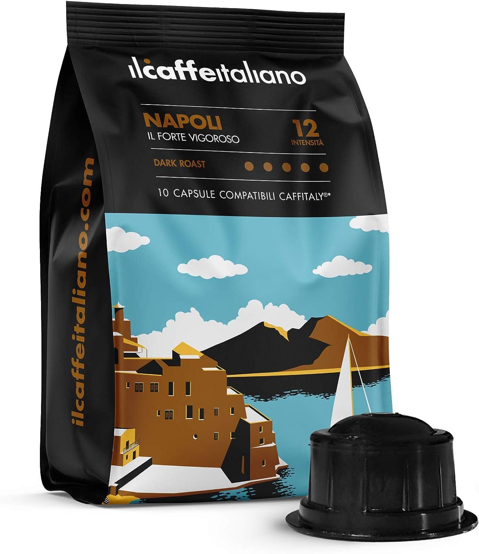 FRHOME - Caffitaly 6,8 x 100 Càpsulas compatibles - Il Caffè Italiano - Mezcla Napoli Intensidad 12: Amazon.es: Alimentación y bebidas