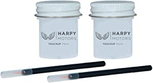 Harpy Motors 1/2oz Touch up Paint Basecoat Clearcoat with Brush Compatible with 2014-2018 Acura MDX NH603P White Diamond Pearl -Color Match Guaranteed