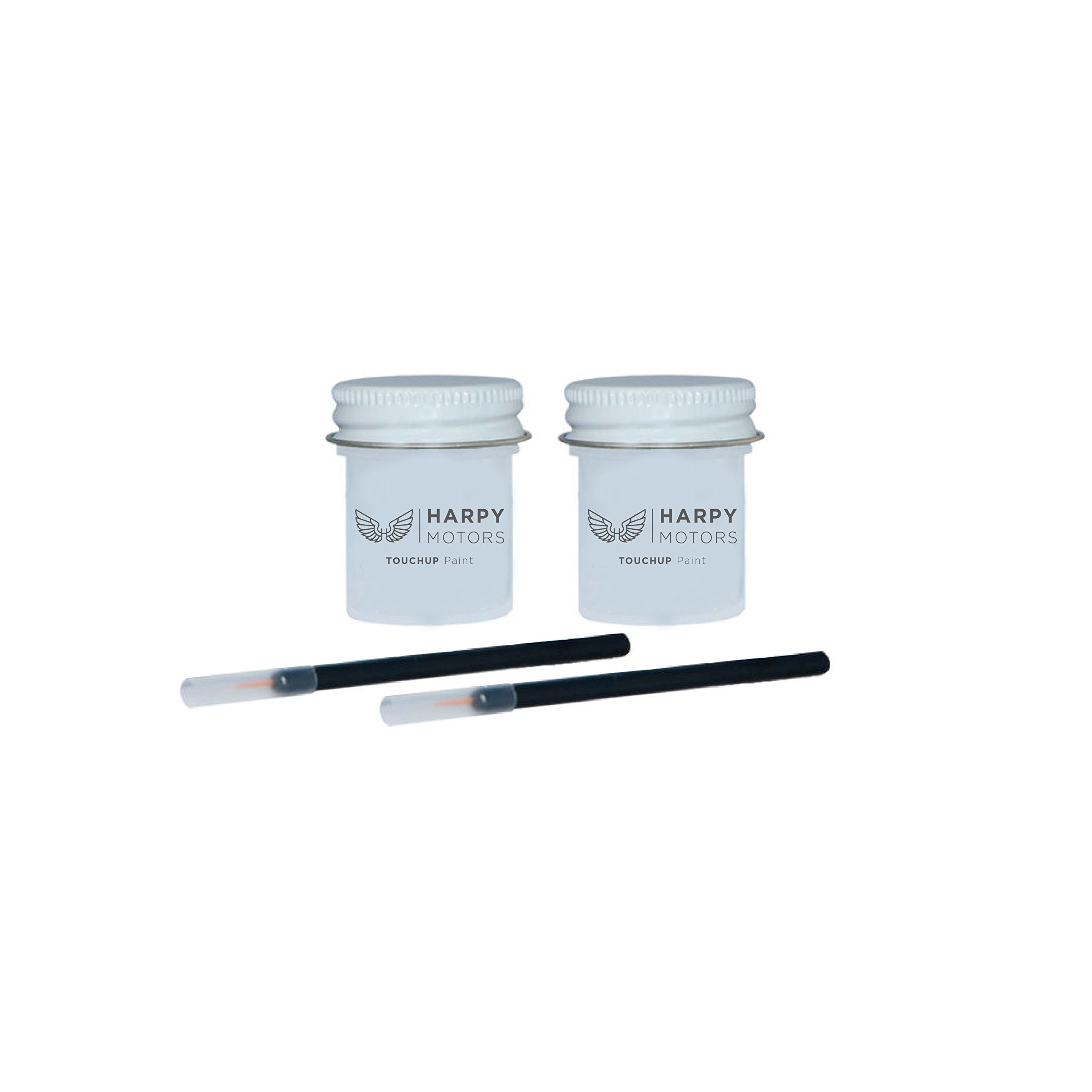 Harpy Motors 1/2 oz Touch up Paint Kit Basecoat Clearcoat with Brush Compatible with 2007-2012 Lexus LS460 1F2 Mercury Metallic -Color Match Guaranteed by Harpy Motors
