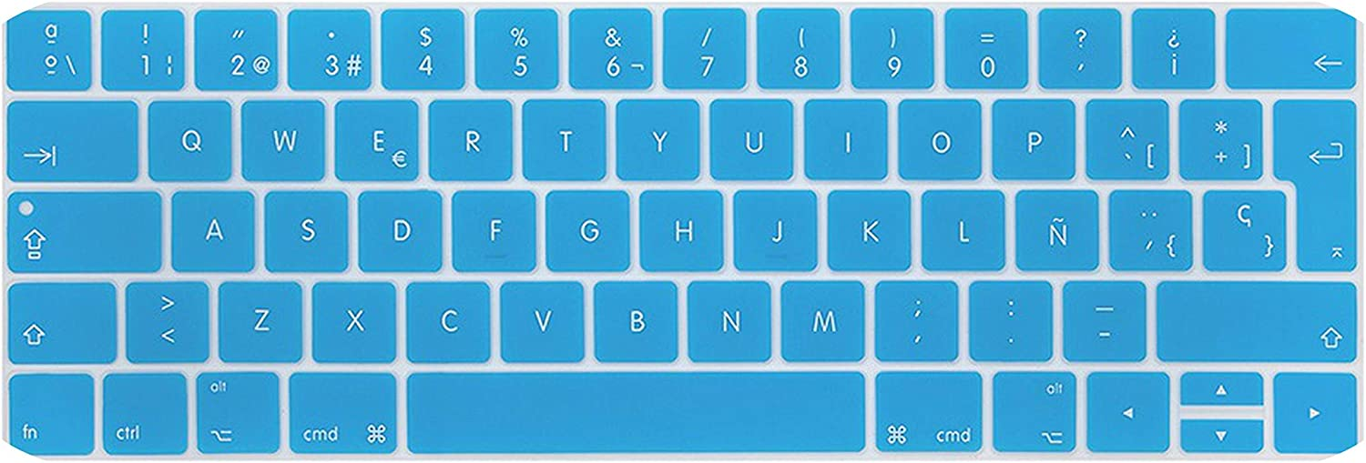 EU Layout Spanish Keyboard Cover for New MacBook Pro 13 15 inch for A1706 A1707 A1989 A1990 Silicone Protective Skin-Gold