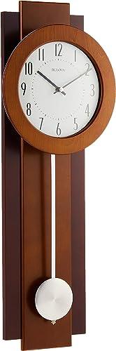 Bulova C3383 Avent Pendulum Deco Wall Clock