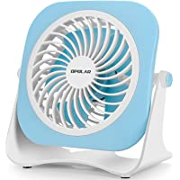 OPOLAR 4 Inch Small USB Desk Fan, 2 Speeds, Lower Noise, USB Powered, 360° Up and Down, 3.8 ft Cable, Powerful Mini…
