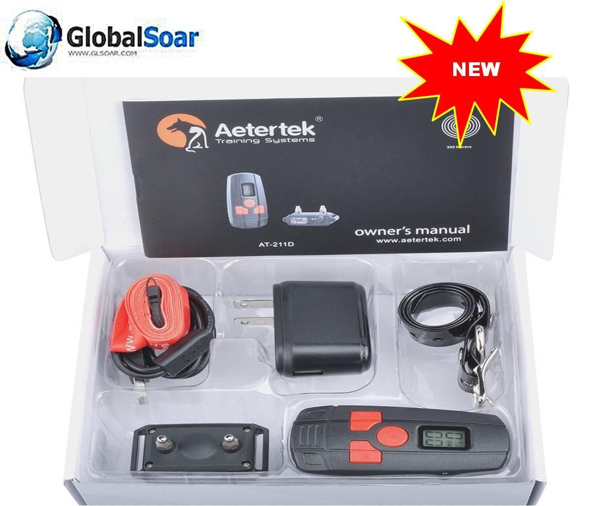 Aetertek 211D-350W-1 400 Yard small Dog (3 ~ 12 lbs) Training Anti Bark Collar by Aetertek