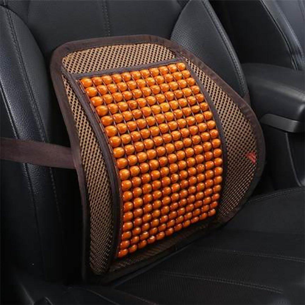RUIX Summer Car Auto Seat Office Chair Lumbar Support Cushion Pad Wood Beads Massage Lumbar Pillow