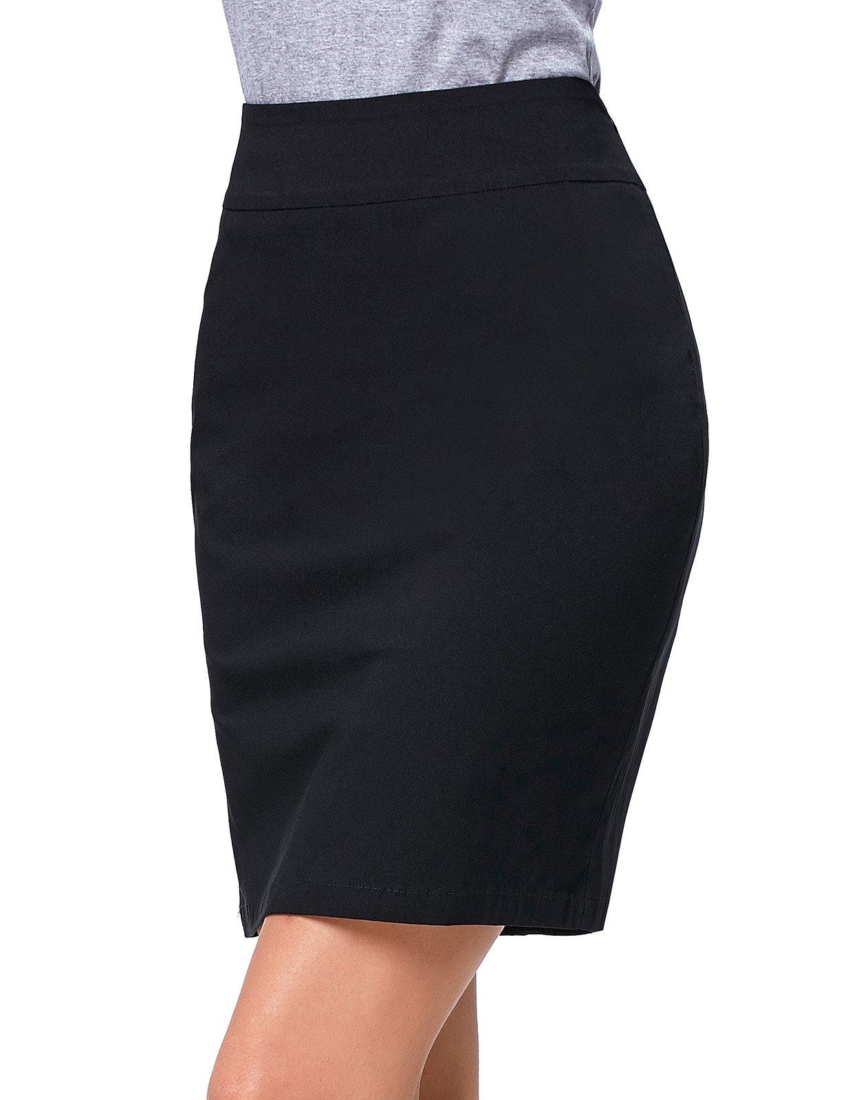 Kate Kasin Elastic Office Wear Above Knee Women Pencil Skirt Size S KK276-1