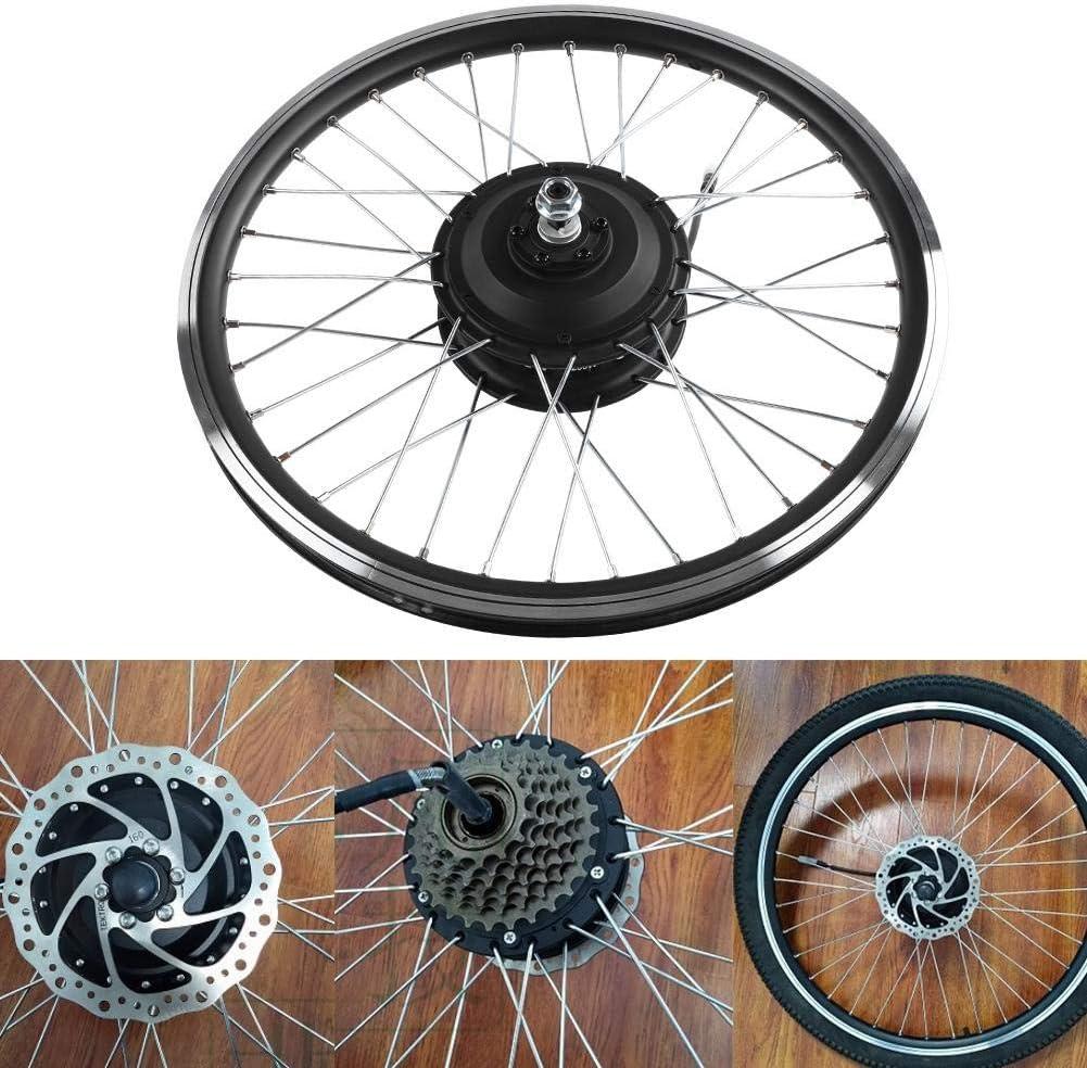 36V//48V 350W velocit/à Massima 28 Km//h 20 Pollici Kit di Conversione E-Bike Ruota Kit Mozzo Ruota Anteriore//Posteriore con Display a LED Focket Kit Bicicletta Elettrica