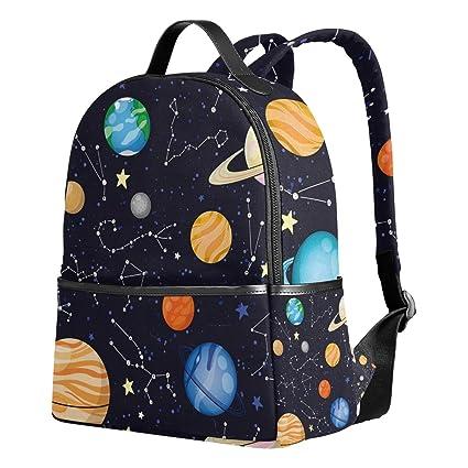 yzgo planetas estrellas niños mochilas escolares para niños niñas jóvenes lienzo bookbags viaje bolsas para portátiles