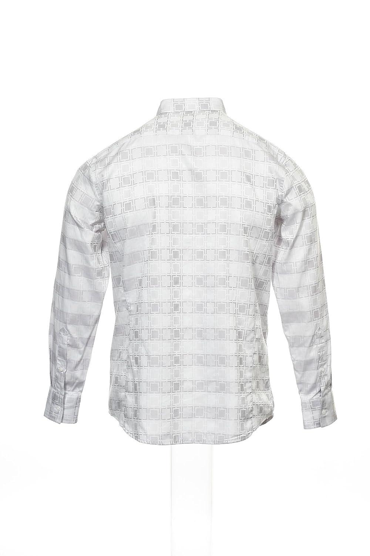 INC International Concepts Mens Light Gray Abstract Button Down Shirt