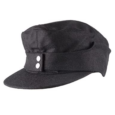 00e167ba Heerpoint Reproduction Wwii Ww2 German Wh Elite Em Army M43 Panzer Wool  Field Cap Hat Black