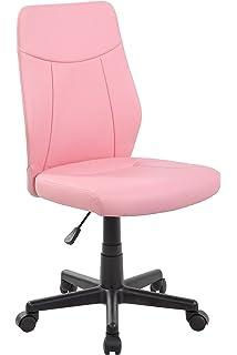 Ayvek Chairs Modern Ergonomic PU Mid Back Armless Executive Computer Desk  Chair For Home Office
