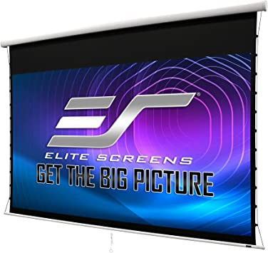 Amazon Com Elite Screens Manual Tab Tension 2 106 Inch Diagonal 16 9 Built In Slow Retract Mechanism Drop Down Projection Screen Wall Ceiling Mounted 4k 8k Ultra 3d Hd Ready Mt106xwh2 16 9 White Electronics