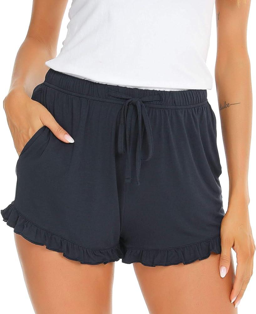 Vlazom Pantalones Cortos de Pijama Mujer Verano de Tela Suave y ...