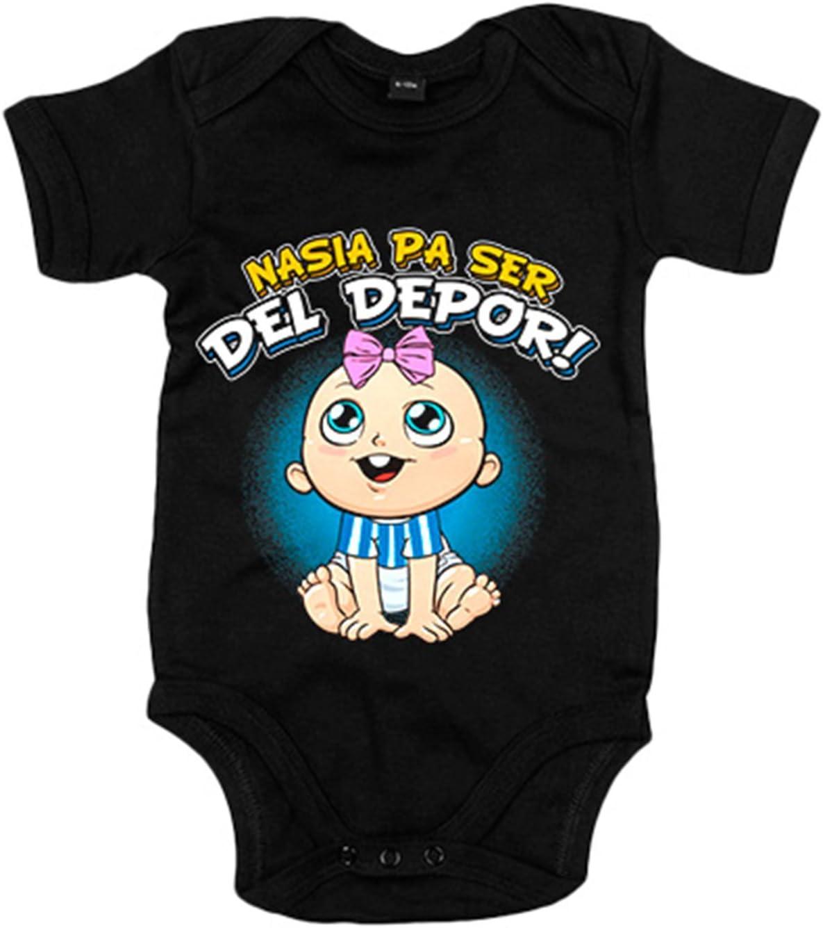 Body beb/é nacida para ser del Depor Coru/ña f/útbol Azul Royal 6-12 meses
