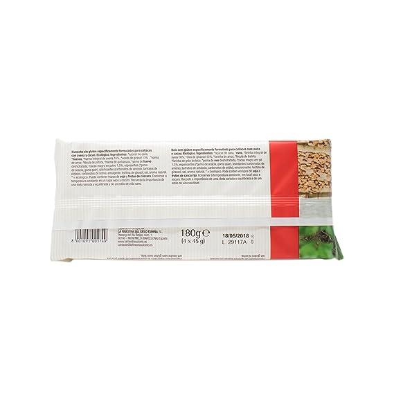 Bizcocho de avena y cacao sin gluten - Germinal - 180g: Amazon.es: Alimentación y bebidas