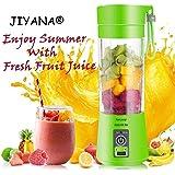JIYANA Portable USB Electric Blender Juicer Cup Plastic Fruit Juicer Grinder 380ml Juice Blender Fruit Juicer Cup Bottle (Multicolour)
