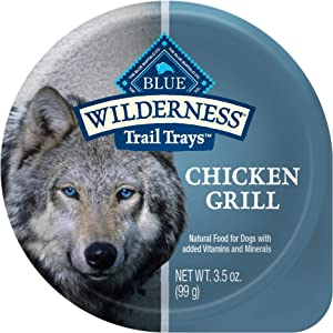 Blue Buffalo Wilderness Trail Trays High Protein, Natural Adult Wet Dog Food Cups, 3.5-oz (Pack of 12)