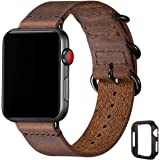 Vintage Leather Bands Compatible with Apple Watch Band 38mm 40mm 42mm 44mm,Genuine Leather Retro Strap Compatible for…