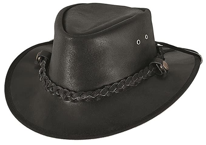a2c5586a Montecarlo Bullhide Hats CESSNOCK Leather Western Cowboy Hat (Medium) Black