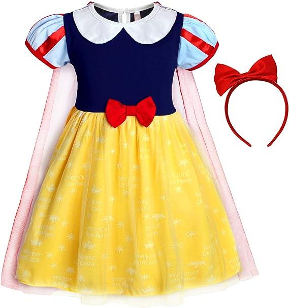 Amazon.com: Jurebecia Disfraz de Blancanieves para niñas ...