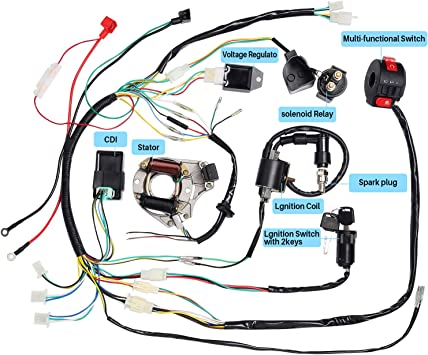 CISNO Complete Electrics Stator Coil CDI Wiring Harness for 4 Stroke on spark plug wire caps, spark plug wire clips, spark plug bracket, spark plug pump, spark plug fuse, spark plug thread sealer, spark plug engine, spark plug troubleshooting chart, spark plug dielectric grease, spark plug battery, spark plug windshield, spark plug shifter, spark plug connectors, spark plug distributor, spark plug filter, spark plug adapter kit, spark plug valve, spark plug spring, spark plug wire assembly, spark plug shift knob,