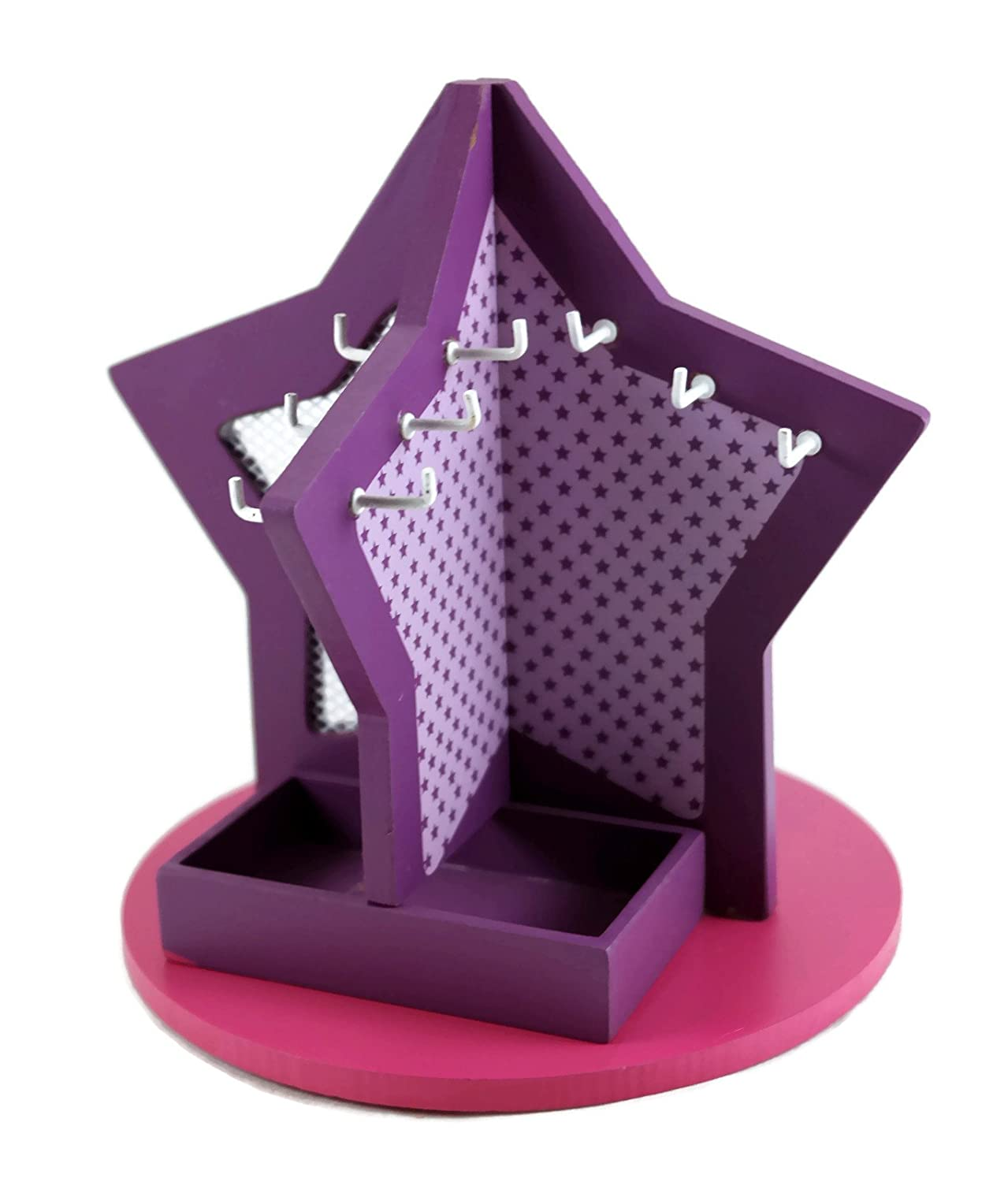 Avon Purple Small Star Shaped Multi-Sided Jewelry Holder Stand