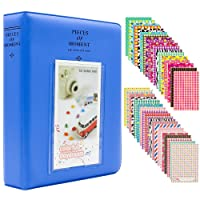 Ablus Store 64 Pockets Mini Photo Album pour Fujifilm Instax Mini 7s 8 8+ 9 25 26 50s 70 90 Caméra Instantanée et Carte Nom