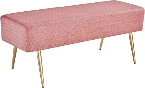 Mxfurhawa 45.7 Inches Velvet Rectangular Bench Footstool