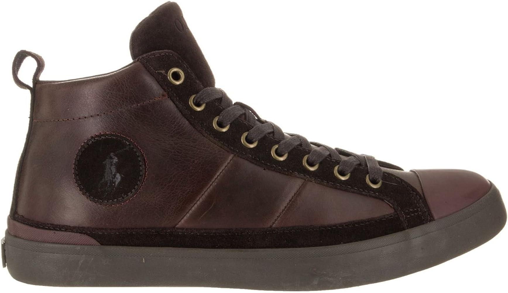 Ralph Lauren Mens Clarke Smithoil Sportside Leather Trainers ...