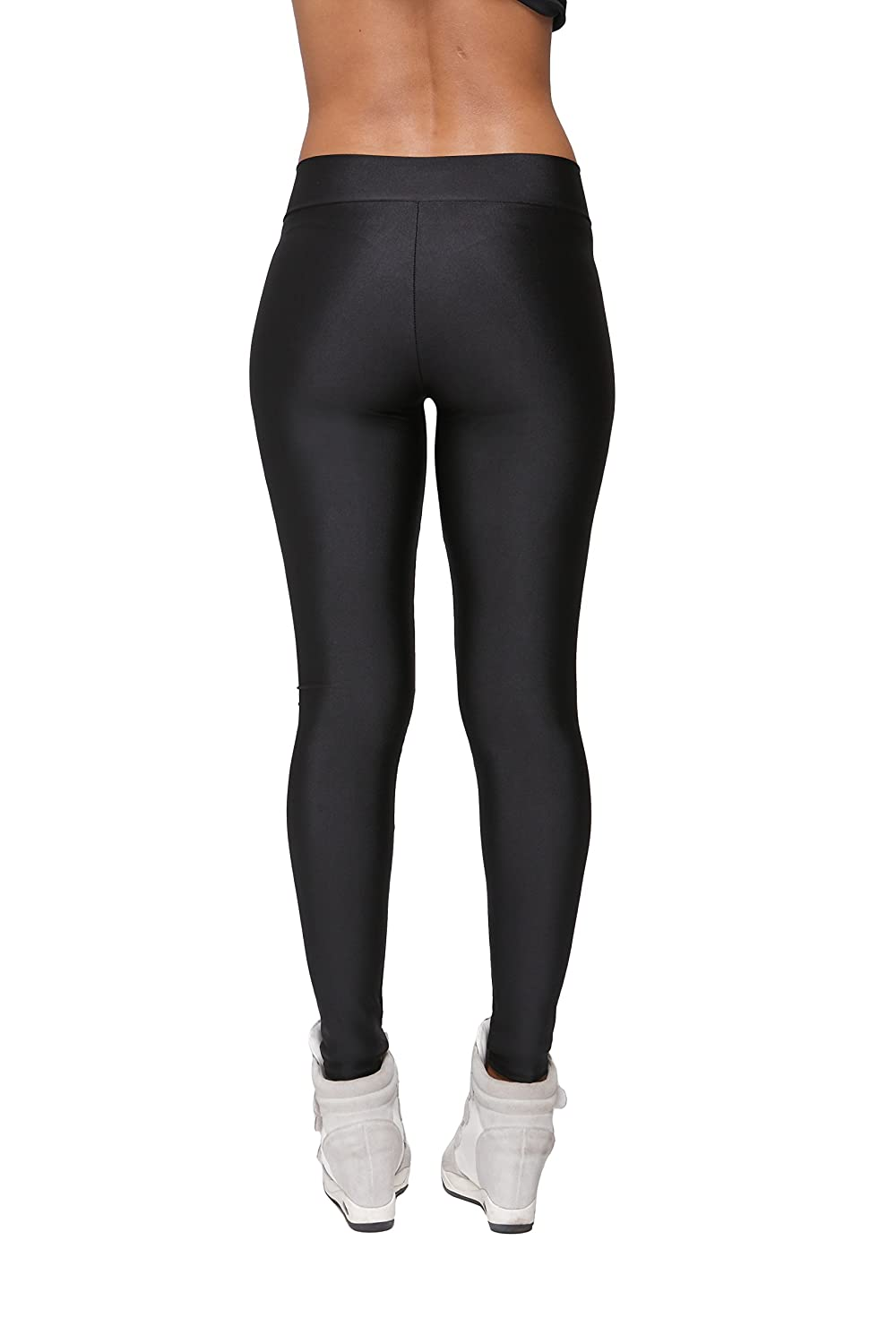 92a77e2ab18b1f Joy Bridalc Yukata Women's Stretch Skinny Shiny Spandex Yoga Leggings  Workout Sports Pants at Amazon Women's Clothing store: