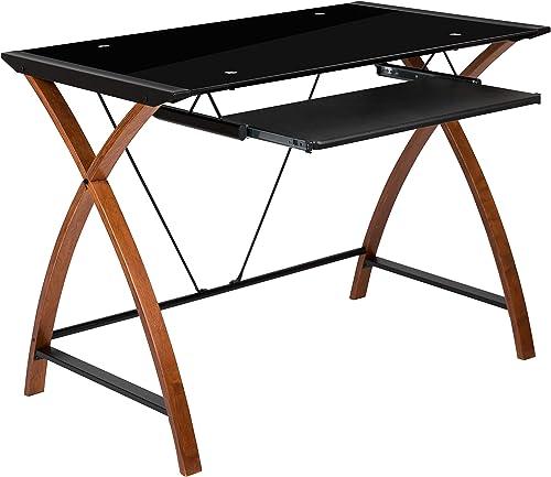 Flash Furniture Black Glass Computer Desk