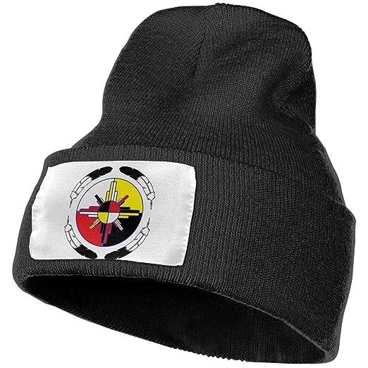 51dc3527604 Beanie Hat Knit Hat Cap Medicine Wheel Unisex Cuffed Plain Skull Knit Hat  Cap Head Cap