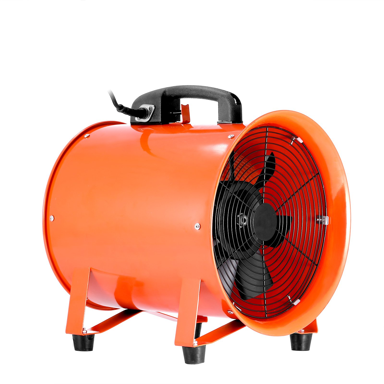 OrangeA Utility Blower 10 Inch 0.45HP 1520 CFM 3300 RPM Portable Ventilator High Velocity Utility Blower Fan Multifunctional Ventilator Fume Extractor ( 10 Inch)
