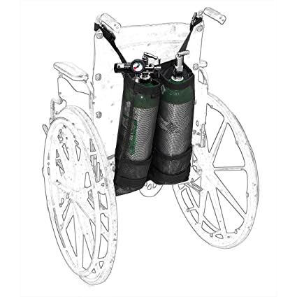 HANSHI Dual Oxygen mochila soporte bolsa silla de ruedas ...