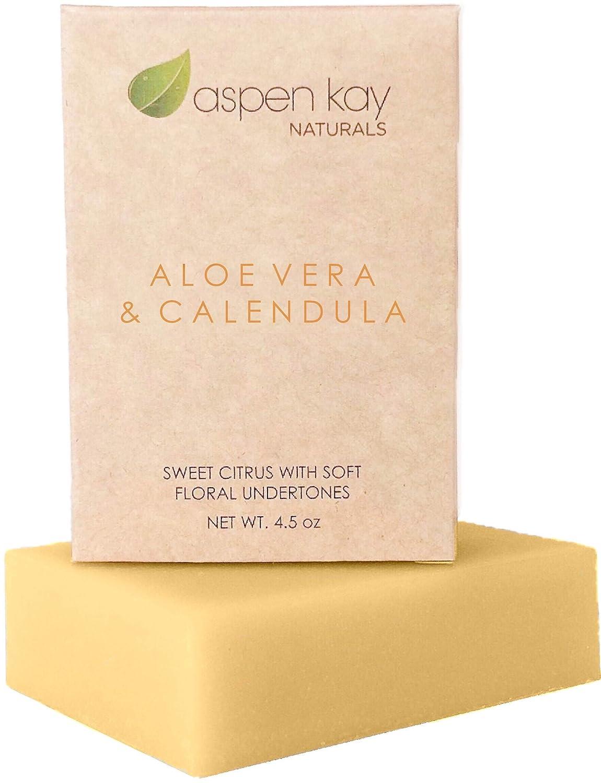 Amazon Com Aloe Vera Calendula Soap 100 Natural Organic With Organic Aloe Vera Calendula Turmeric Use As A Face Soap Body Soap Or Shaving Soap Aloe Vera Calendula