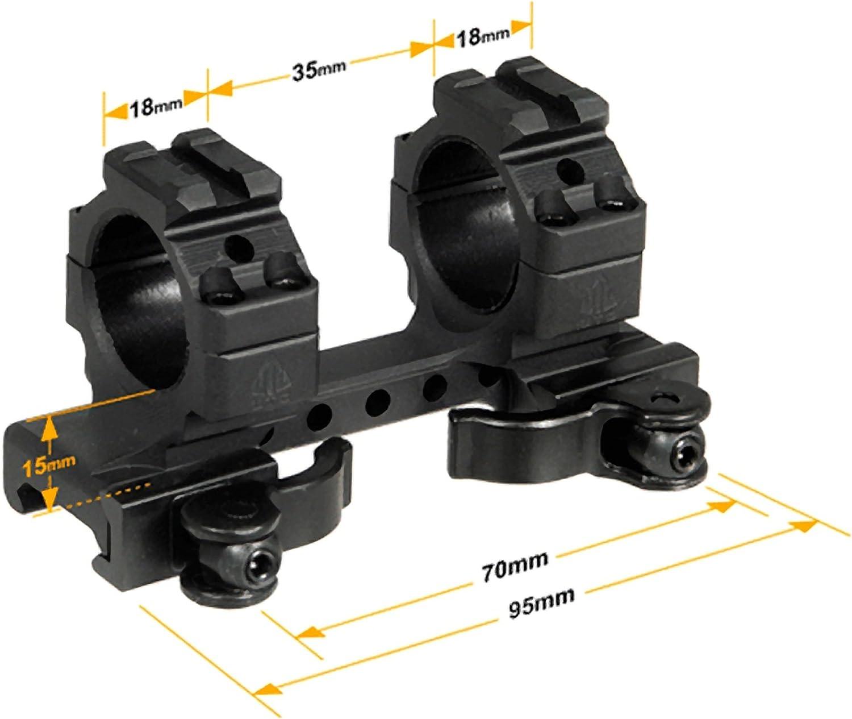 """UTG 1/""""//2PCs Med Pro LE Grade Picatinny QD Rings 22mm Wide"""