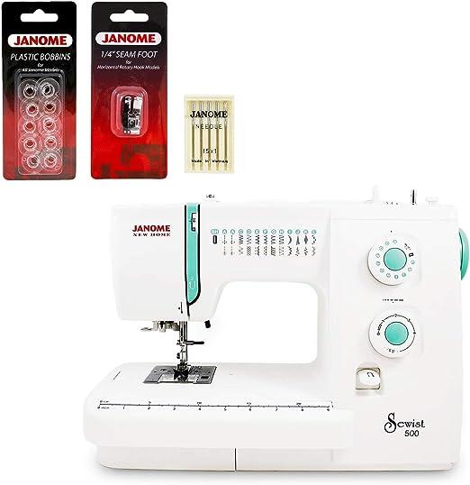 Janome Sewist 500 máquina de coser con kit de 3 piezas: Amazon.es ...