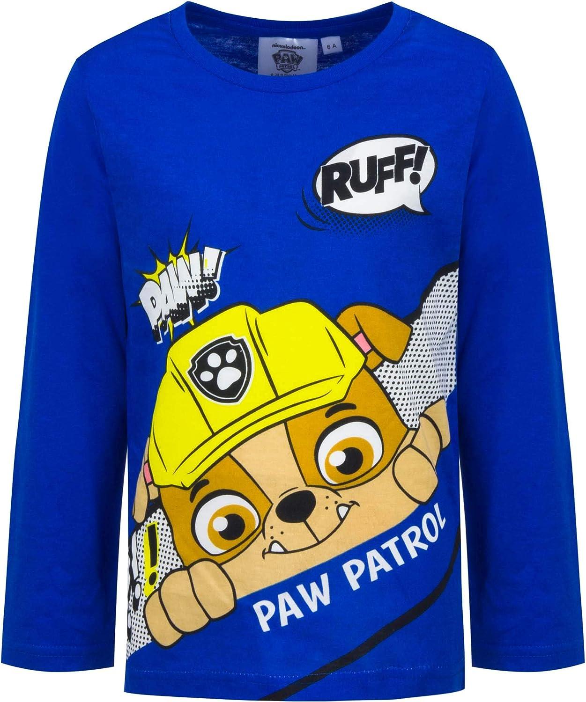 Paw Patrol Jungen Langarmshirts Gr.98-1160Pullover Shirt blau Langarm neu!