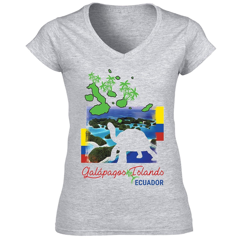 teesquare1st Galapagos Ecuador Camiseta para Mujer de Algodon  Amazon.es   Ropa y accesorios 1aa2a57d33a04