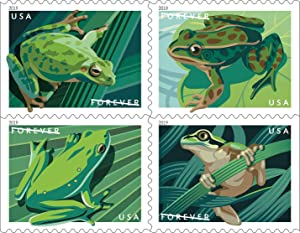 Frogs Forever Postage Stamps US First Class Postage Book of 20