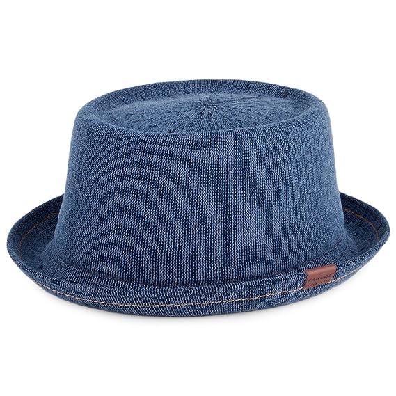 Kangol Hats Indigo Mowbray Pork Pie Hat - Denim LARGE  Amazon.co.uk ... 59b9818fe22