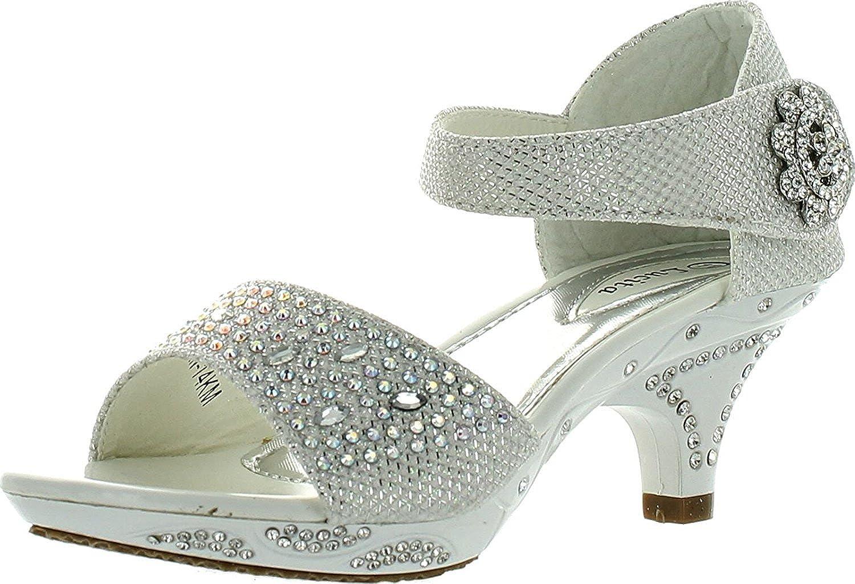 Lucita Jan 14Km Little Girls Rhinestone Heel Platform Dress Sandals JAN-14-KM