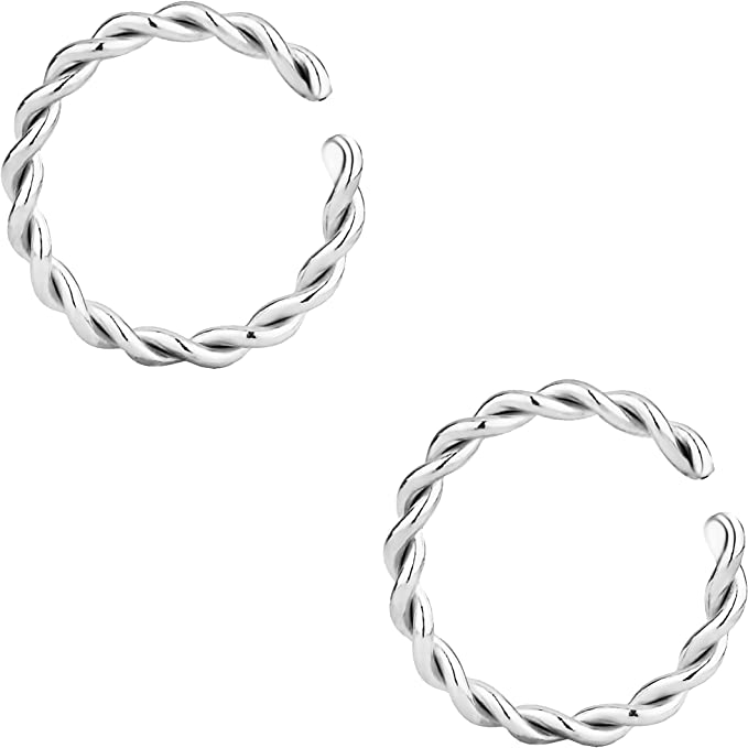 10x Nose Ring Open Hoop Lip Body Piercing Studs Stainless Steel Jewelry Gift Dw
