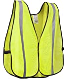 XSHIELD XS0008,High Visibility Vest with Silver Stripe,ANSI Class Unrated,Universal Size (Yellow)