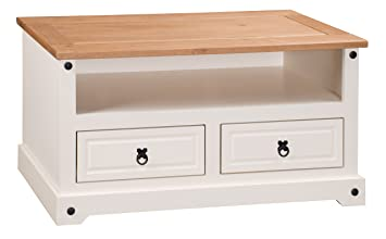 Mercers Furniture Corona Painted Flat Screen TV Unit   Cream/Pine