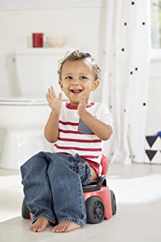 Image: The First Years Training Wheels Racer Potty System | 2-in-1 potty system offers a removable trainer seat that fits on the family toilet