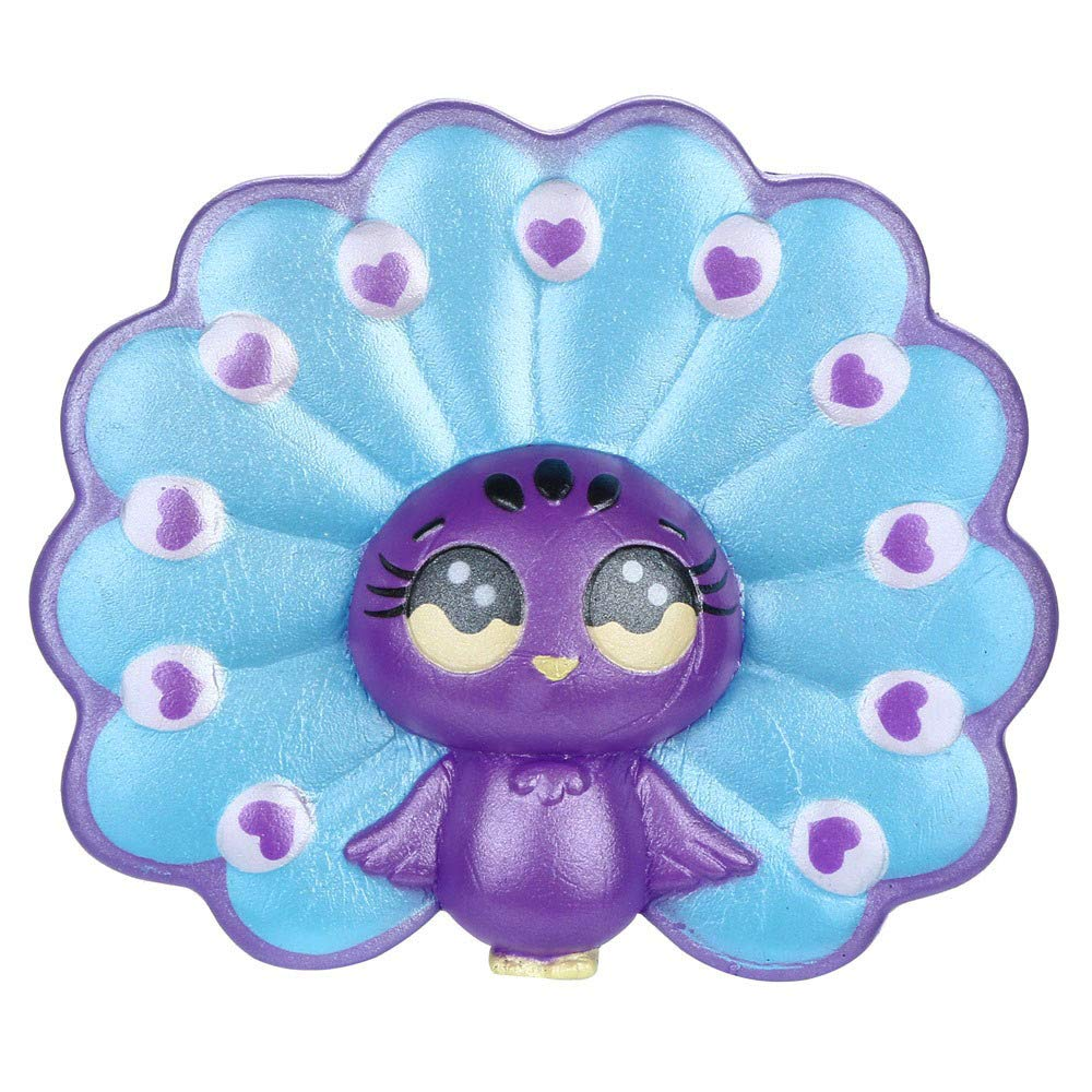 iumei Decompression Toy, Squishies Adorable Cartoon Peacock Slow Rising Fruit Scented Stress Relief Toys Slow Rebound PU Toy,The Best Gift for Children (B)