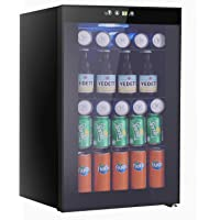 Beverage Refrigerator and Cooler, 85 Can or 60 Bottles Capacity with Smoky Gray Glass Door for Soda Beer or Wine,Compressor Touch Panel Digital Temperature Display (2.9 cu.ft)