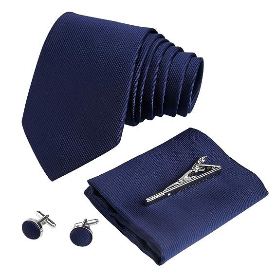 TUPARKA 4 piezas de corbata para hombre, corbata y bolsillo de ...