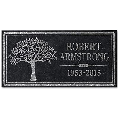 in Loving Memory Personalized Granite Memorial Stone Sympathy Remembrance Gift Dad Mom Child Memory : Garden & Outdoor