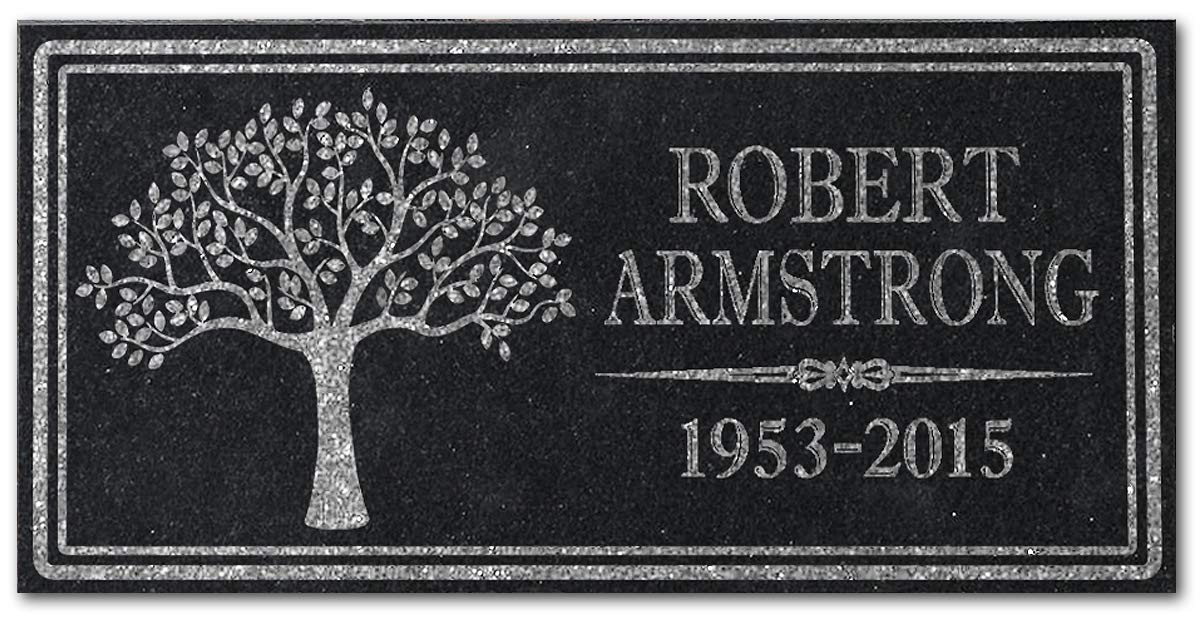 In Loving Memory Personalized Granite Memorial Stone Sympathy Remembrance Gift Dad Mom Child Memory Stocking Factory Granite-TREE-Pers